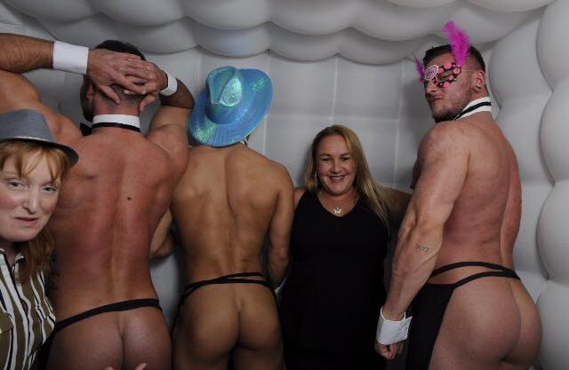 ladies nights Glasgow - semi naked Butlers with bums on show Glasgow
