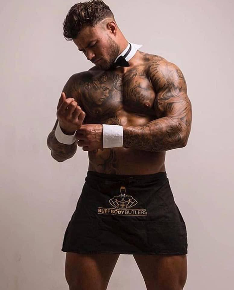 Semi naked Butlers in the buff London - Male strippers London - London hen party ideas