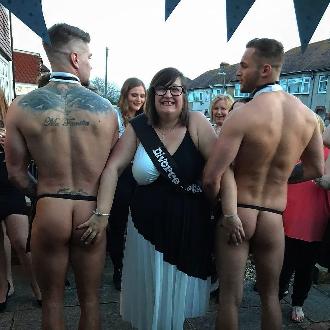 Divorce party with naked butlers Leeds