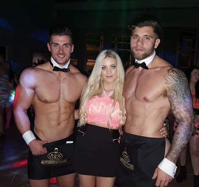 Semi naked butlers in the buff Liverpool
