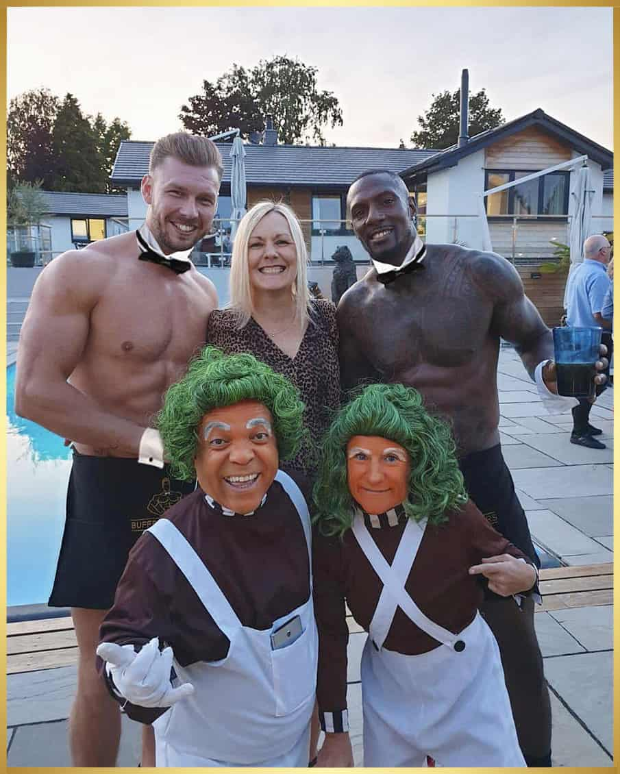 Hen party Ibiza with buff butlers